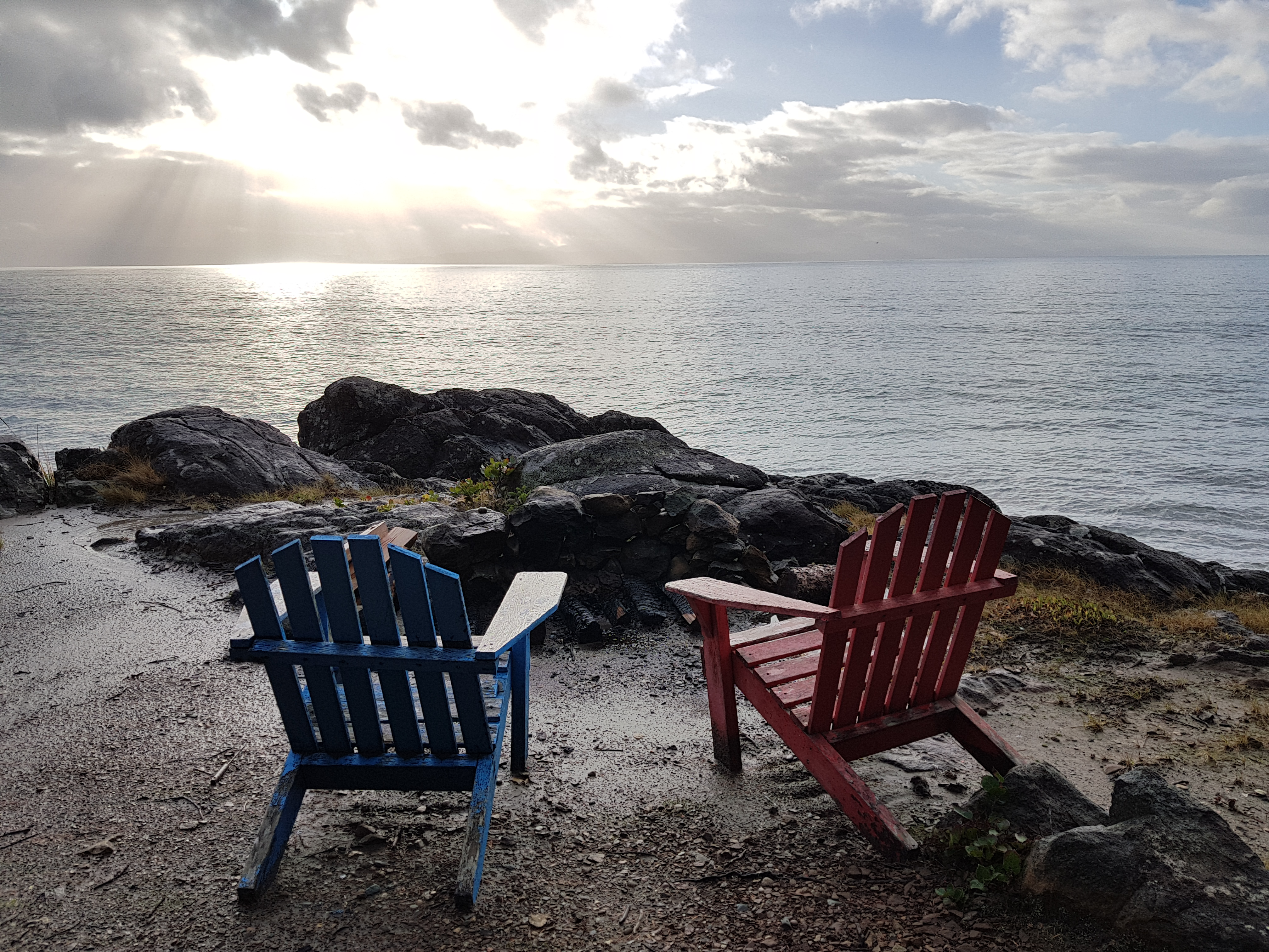 Chairs by the ocean