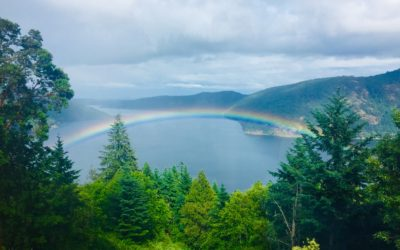 Rainbow at the Malahat Chalet